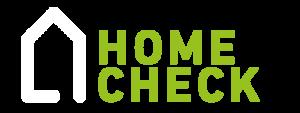 Homecheck logo wit